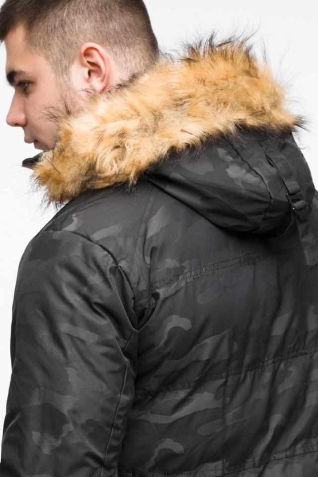 """Чорна зимова чоловіча куртка з коміром модель 25310 Braggart """"Youth"""" фото 10"""