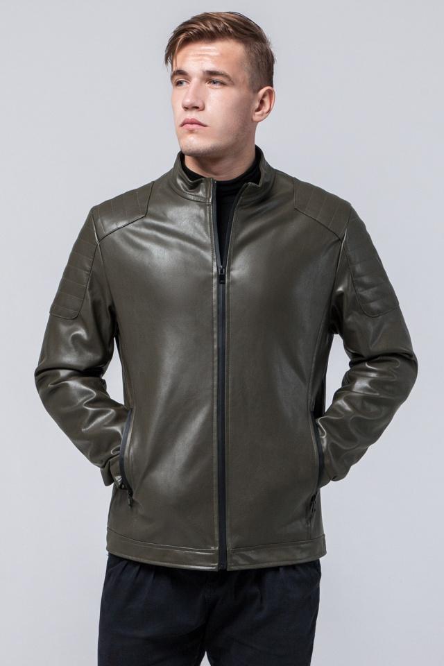 "Осенне-весенняя куртка цвета хаки мужская молодежная модель 4129 Braggart ""Youth"" фото 4"