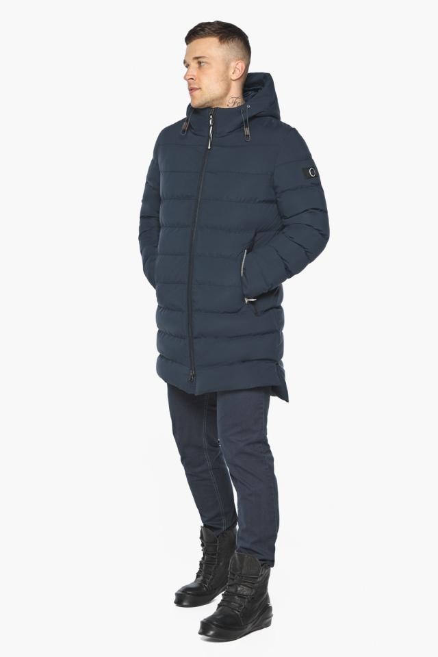 """Практичная зимняя куртка на мужчин тёмно-синяя модель 49080 Braggart """"Aggressive"""" фото 5"""