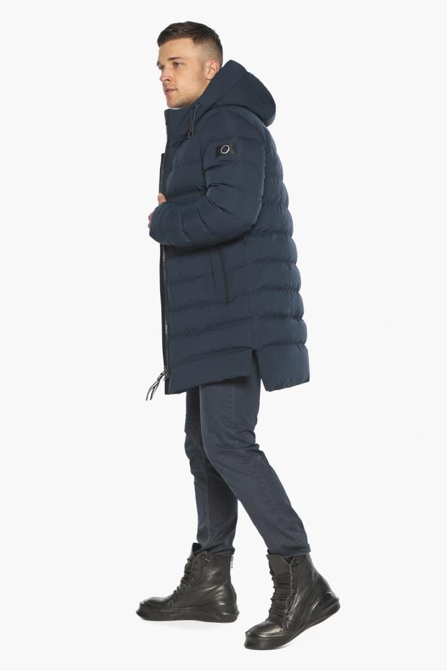 """Практичная зимняя куртка на мужчин тёмно-синяя модель 49080 Braggart """"Aggressive"""" фото 7"""