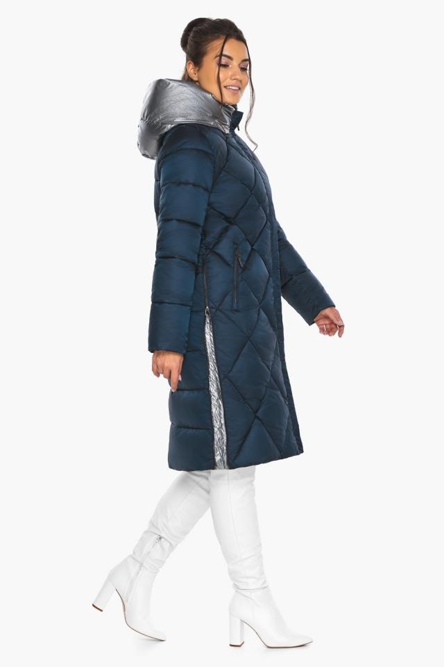 """Сапфировая куртка женская длинная модель 46510 Braggart """"Angel's Fluff"""" фото 7"""