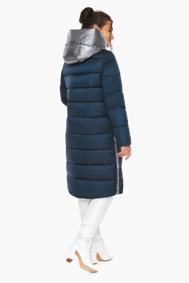 """Сапфировая куртка женская длинная модель 46510 Braggart """"Angel's Fluff"""" фото 8"""