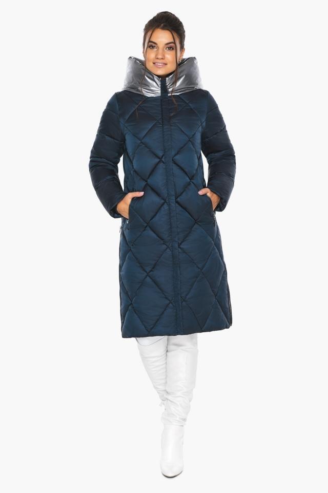 """Сапфировая куртка женская длинная модель 46510 Braggart """"Angel's Fluff"""" фото 6"""