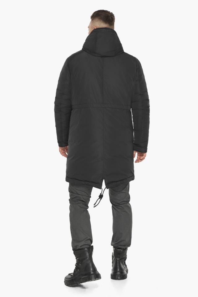 """Куртка – воздуховик с капюшоном мужской чёрный зимний модель 30773 Braggart """"Angel's Fluff Man"""" фото 8"""
