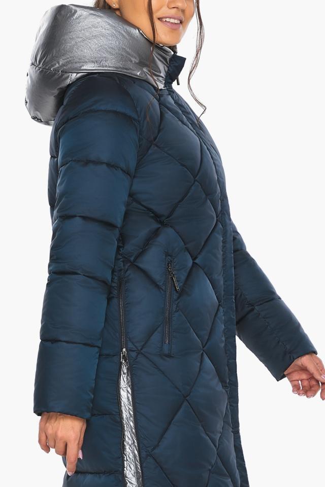 """Сапфировая куртка женская длинная модель 46510 Braggart """"Angel's Fluff"""" фото 9"""