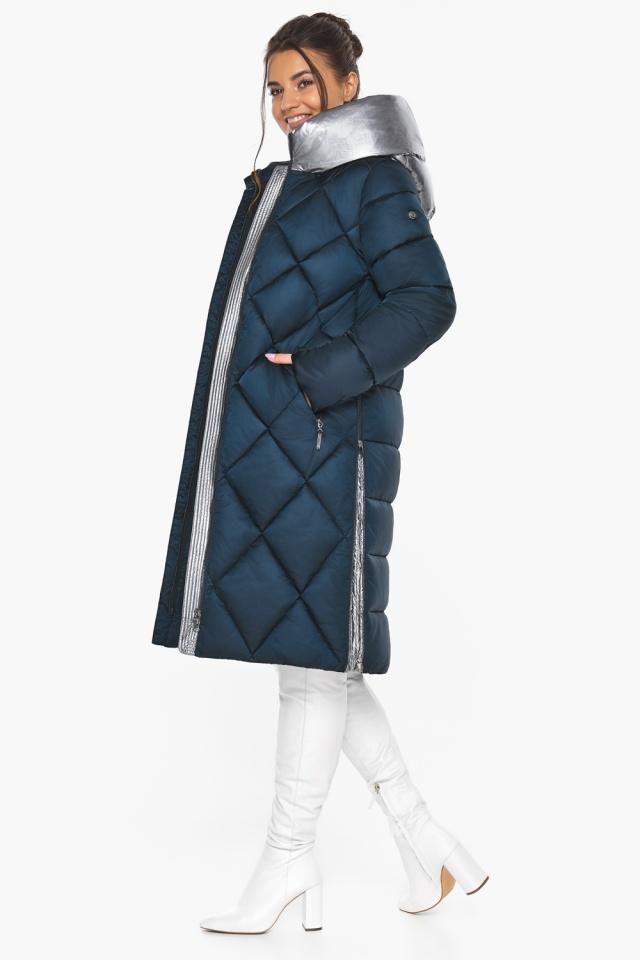 """Сапфировая куртка женская длинная модель 46510 Braggart """"Angel's Fluff"""" фото 2"""