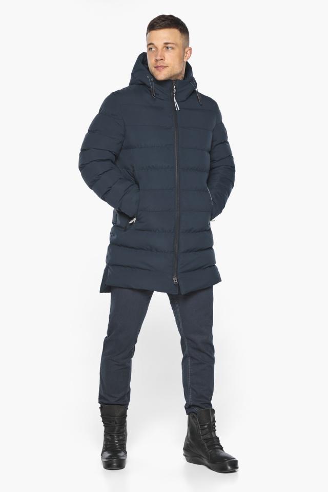 """Практичная зимняя куртка на мужчин тёмно-синяя модель 49080 Braggart """"Aggressive"""" фото 2"""