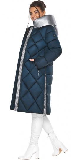 """Сапфировая куртка женская длинная модель 46510 Braggart """"Angel's Fluff"""" фото 1"""