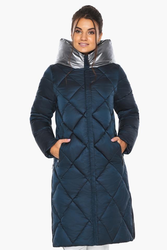 """Сапфировая куртка женская длинная модель 46510 Braggart """"Angel's Fluff"""" фото 3"""