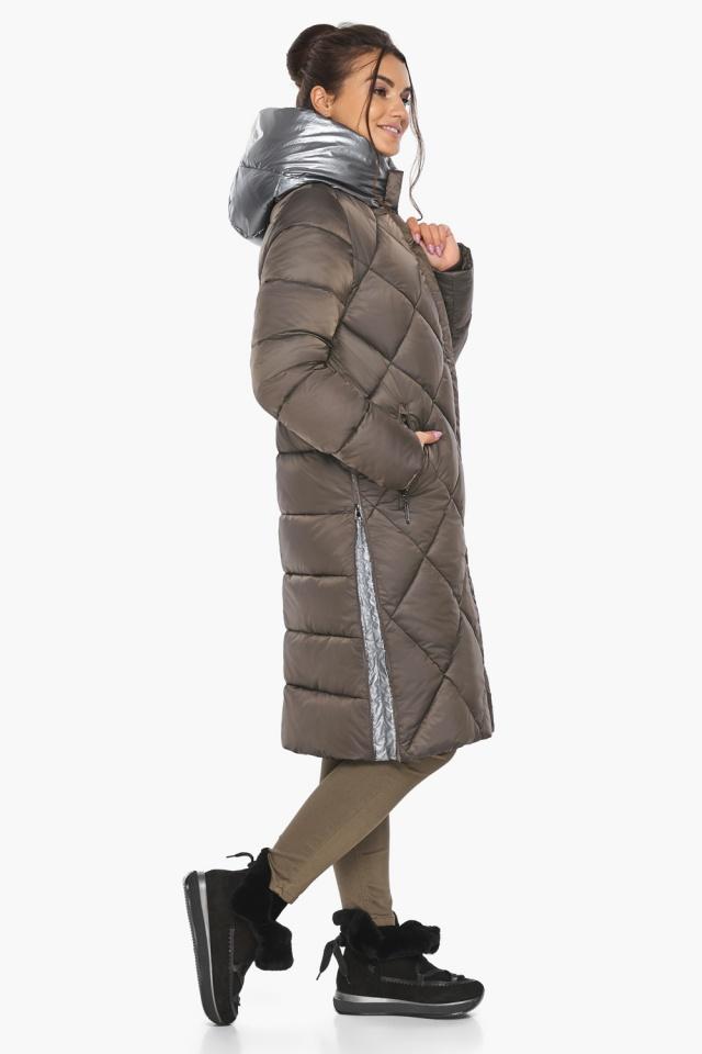 """Куртка капучиновая женская трендовая модель 46510 Braggart """"Angel's Fluff"""" фото 10"""