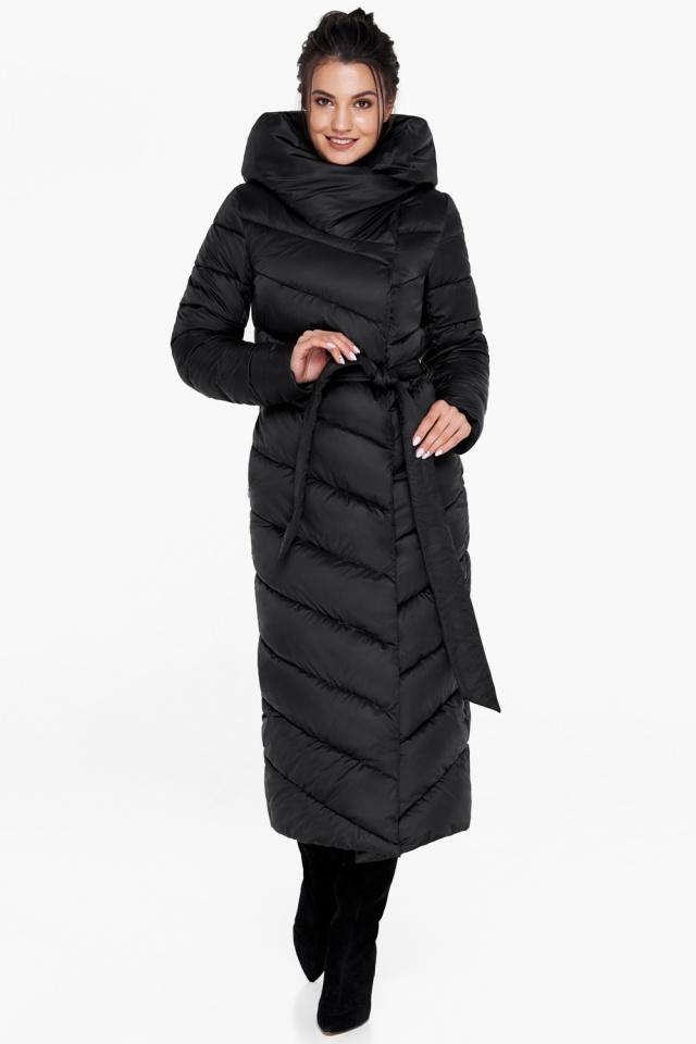 """Куртка чёрного цвета женская на зиму модель 31016 Braggart """"Angel's Fluff"""" фото 4"""