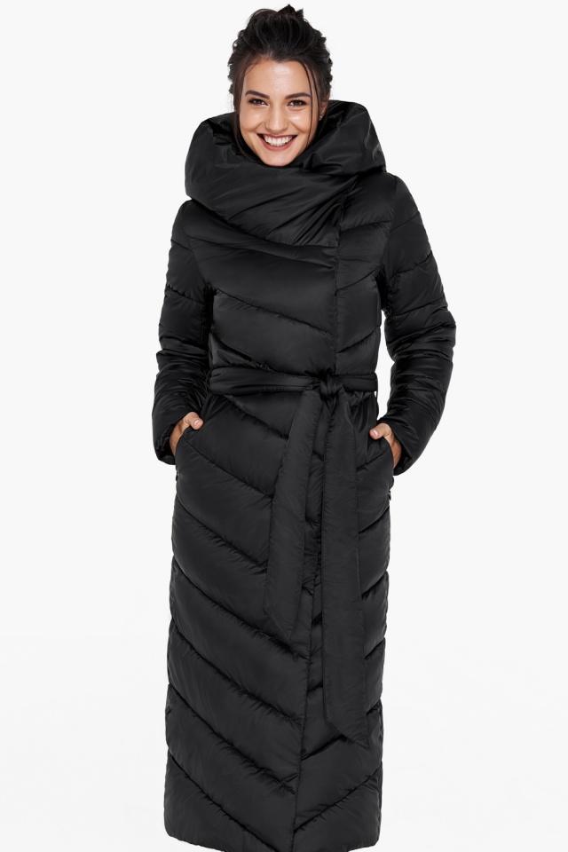 """Куртка чёрного цвета женская на зиму модель 31016 Braggart """"Angel's Fluff"""" фото 3"""