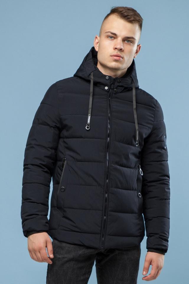 Мужская теплая куртка черная на зиму модель 6009 Kiro Tokao – Ajento фото 4