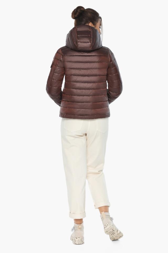 """Удобная куртка женская каштановая осенне-весенняя модель 62574 Braggart """"Angel's Fluff"""" фото 6"""