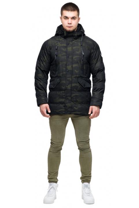 """Модная мужская куртка для зимы тёмно-зелёная модель 25140 Braggart """"Youth"""" фото 1"""