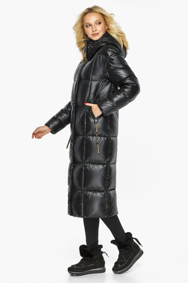 """Куртка женская зимняя чёрная комфортная модель 42830 Braggart """"Angel's Fluff"""" фото 4"""
