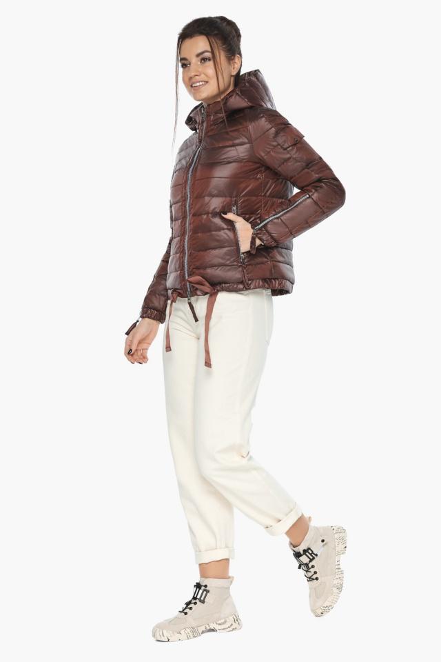 """Удобная куртка женская каштановая осенне-весенняя модель 62574 Braggart """"Angel's Fluff"""" фото 2"""