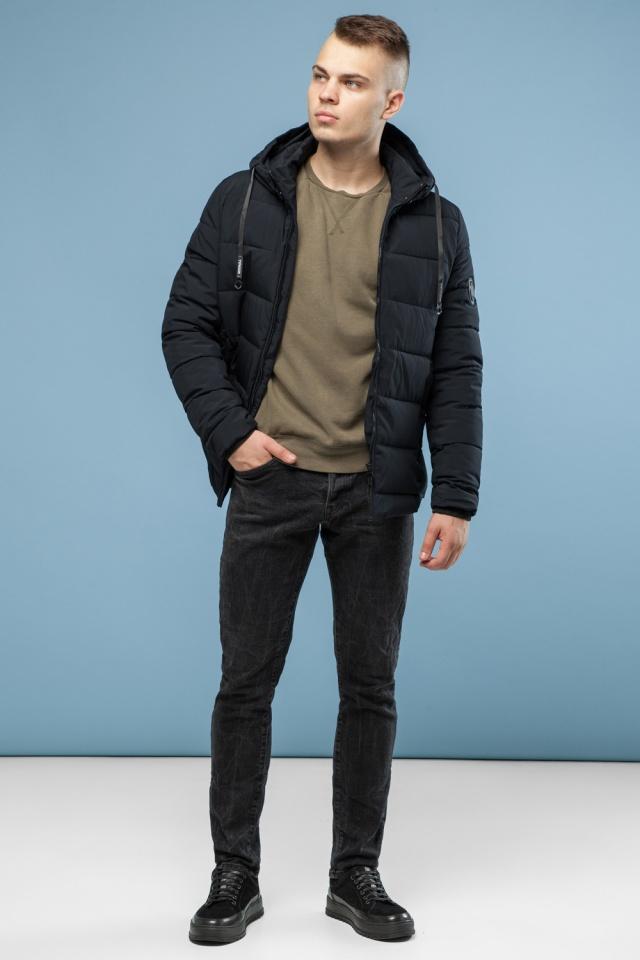 Мужская теплая куртка черная на зиму модель 6009 Kiro Tokao – Ajento фото 3