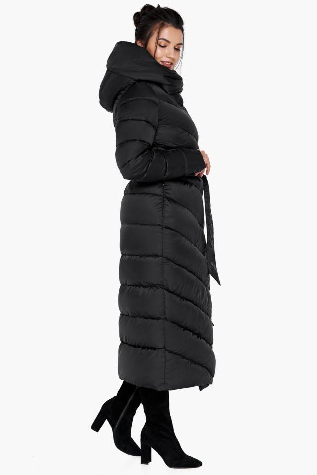 Куртка черного цвета женская на зиму модель 31016
