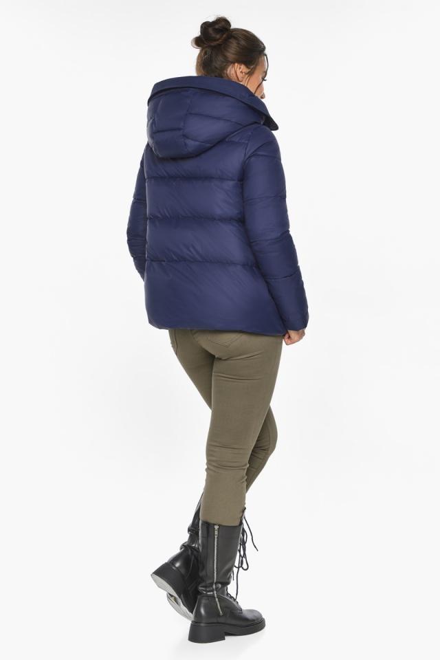 """Куртка синяя зимняя с манжетами женская модель 43560 Braggart """"Angel's Fluff"""" фото 5"""
