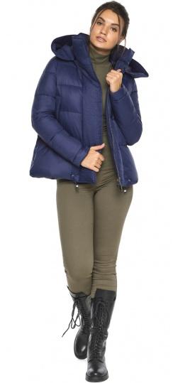 """Куртка синяя зимняя с манжетами женская модель 43560 Braggart """"Angel's Fluff"""" фото 1"""