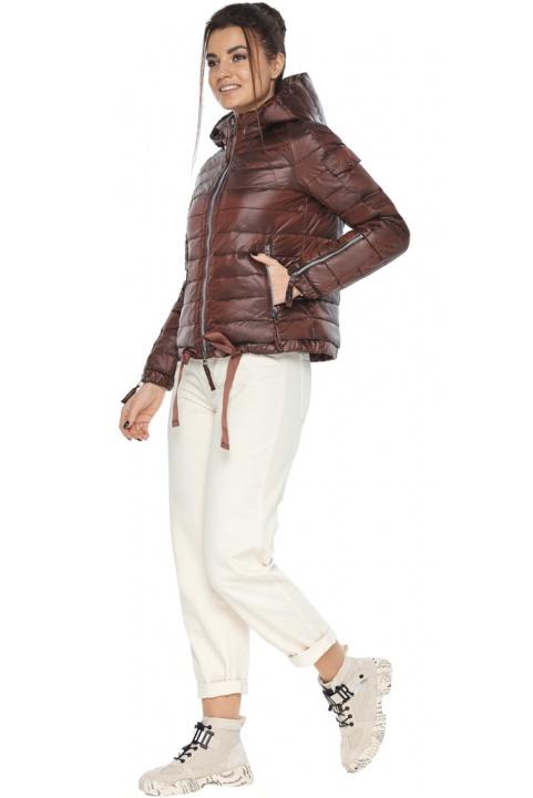 """Зручна куртка жіноча каштанова осінньо-весняна модель 62574 Braggart """"Angel's Fluff"""" фото 1"""
