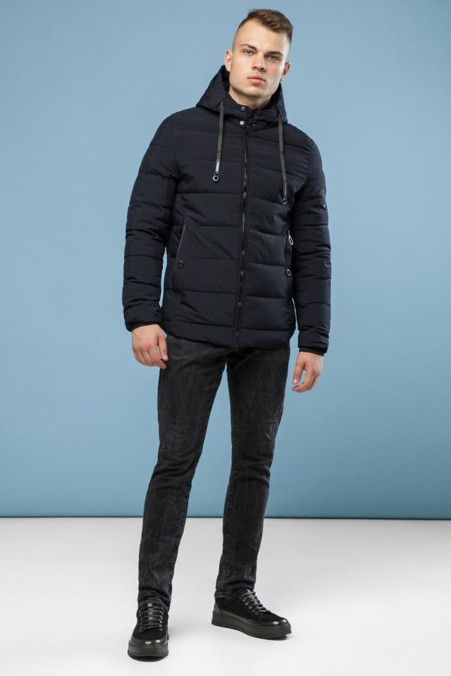 Мужская теплая куртка черная на зиму модель 6009 Kiro Tokao фото 2