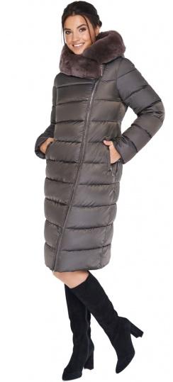 """Куртка цвета капучино женская на зиму модель 31049 Braggart """"Angel's Fluff"""" фото 1"""
