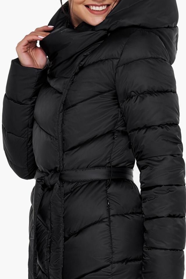 """Куртка чёрного цвета женская на зиму модель 31016 Braggart """"Angel's Fluff"""" фото 8"""