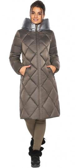 """Куртка капучиновая женская трендовая модель 46510 Braggart """"Angel's Fluff"""" фото 1"""