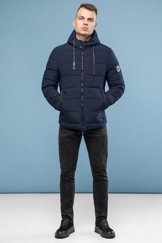 Зимняя куртка в минималистическом стиле тёмно-синяя мужская модель 6009 Kiro Tokao – Ajento фото 2