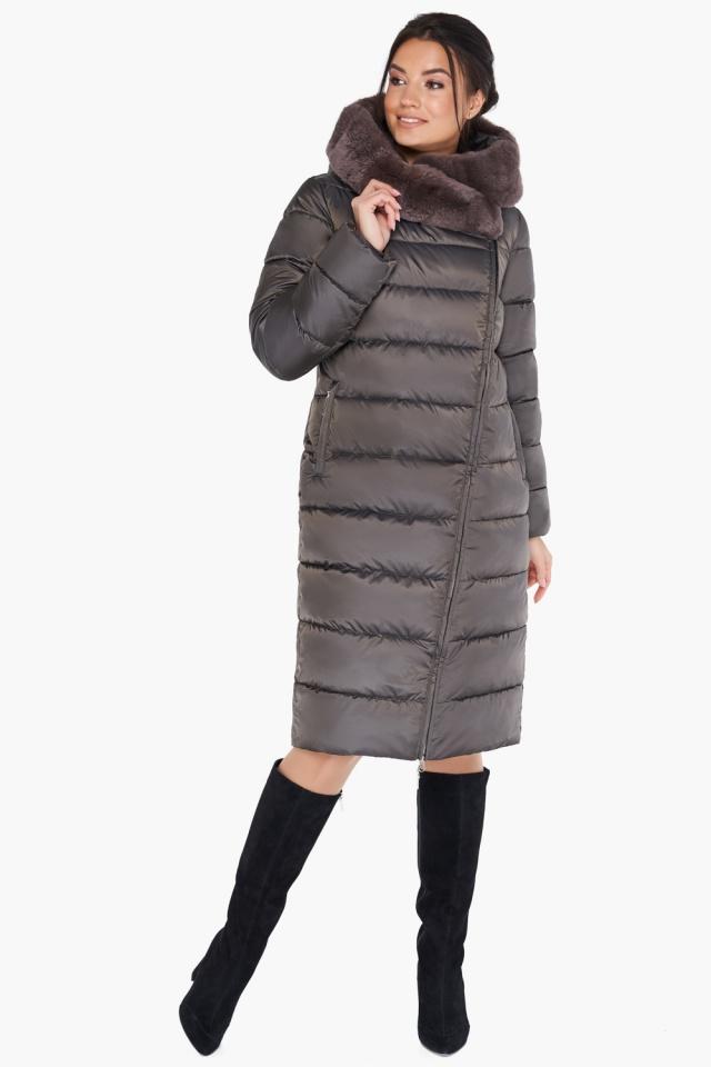 Куртка цвета капучино женская на зиму модель 31049