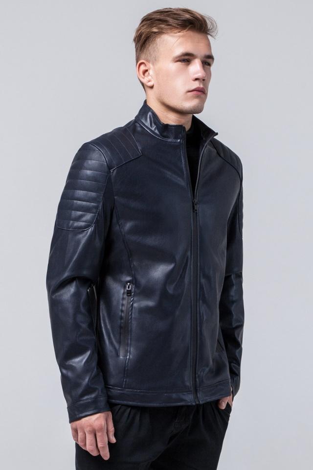 "Темно-синяя куртка осенне-весенняя мужская молодежная модель 4129 Braggart ""Youth"" фото 3"