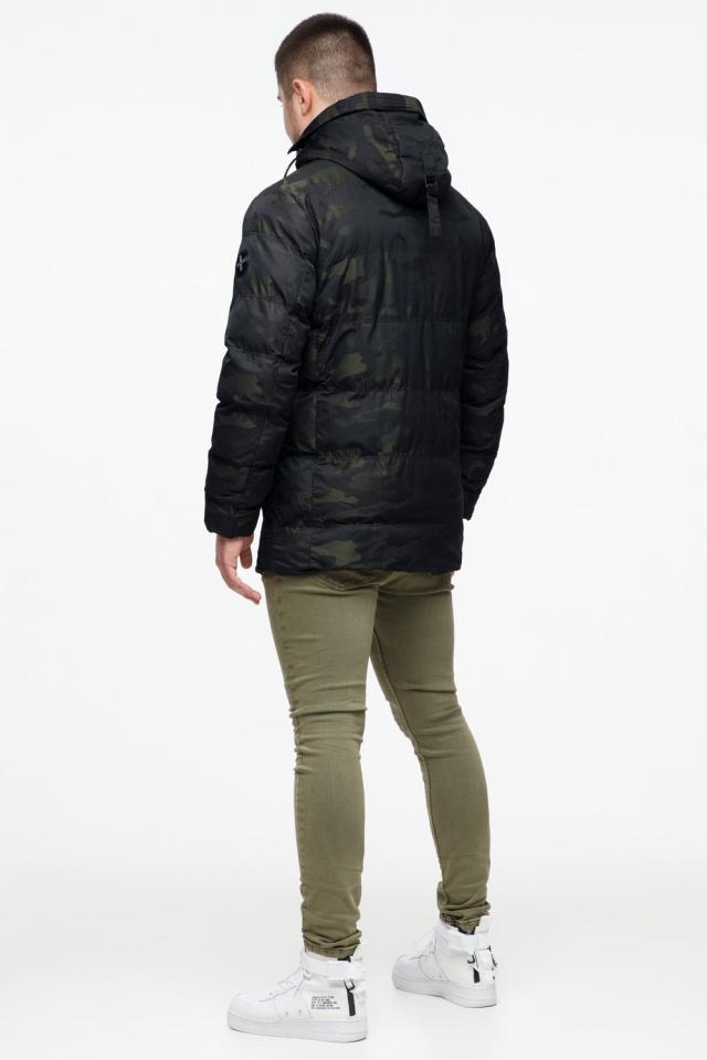 """Модная мужская куртка для зимы тёмно-зелёная модель 25140 Braggart """"Youth"""" фото 6"""