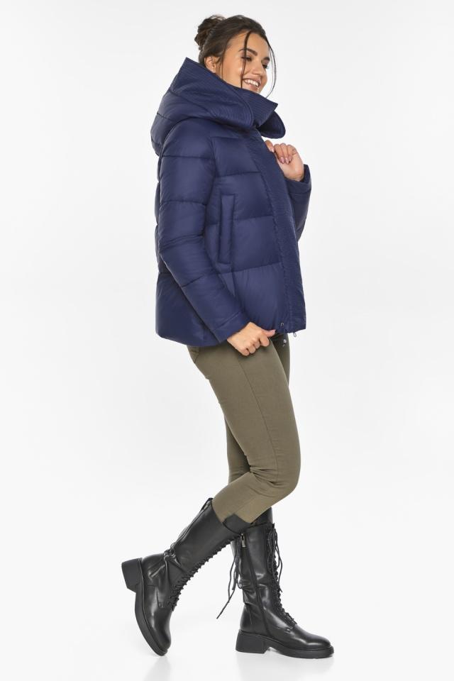 """Куртка синяя зимняя с манжетами женская модель 43560 Braggart """"Angel's Fluff"""" фото 2"""