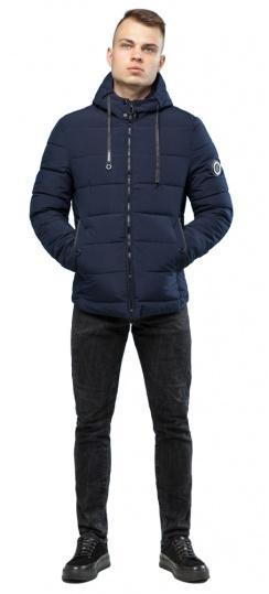Зимняя куртка в минималистическом стиле тёмно-синяя мужская модель 6009 Kiro Tokao – Ajento фото 1