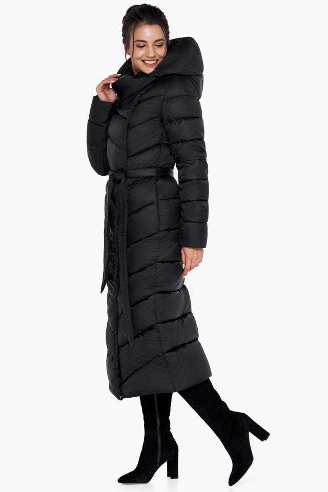 """Куртка чёрного цвета женская на зиму модель 31016 Braggart """"Angel's Fluff"""" фото 2"""