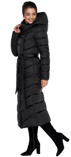 """Куртка чёрного цвета женская на зиму модель 31016 Braggart """"Angel's Fluff"""" фото 1"""