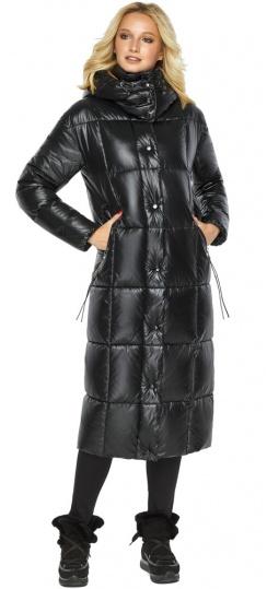 """Куртка женская зимняя черная с капюшоном модель 42830 Braggart """"Angel's Fluff"""" фото 1"""