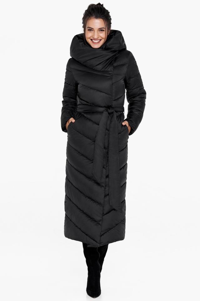 """Куртка чёрного цвета женская на зиму модель 31016 Braggart """"Angel's Fluff"""" фото 5"""