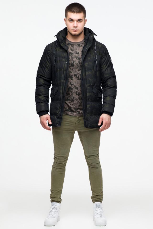 """Модная мужская куртка для зимы тёмно-зелёная модель 25140 Braggart """"Youth"""" фото 3"""
