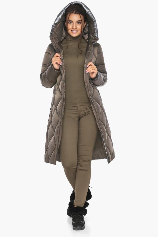 """Куртка капучиновая женская трендовая модель 46510 Braggart """"Angel's Fluff"""" фото 4"""