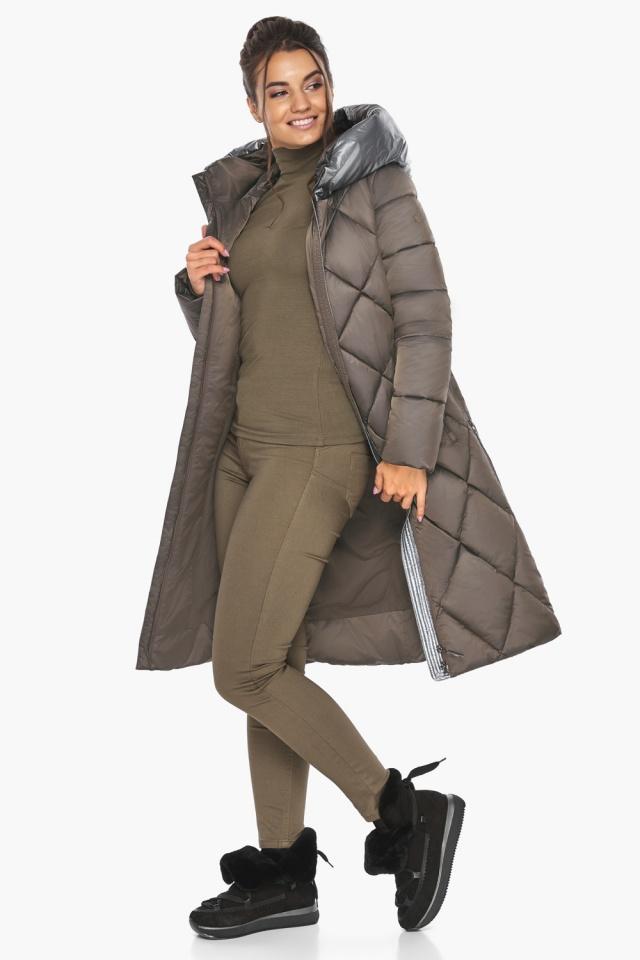 """Куртка капучиновая женская трендовая модель 46510 Braggart """"Angel's Fluff"""" фото 2"""