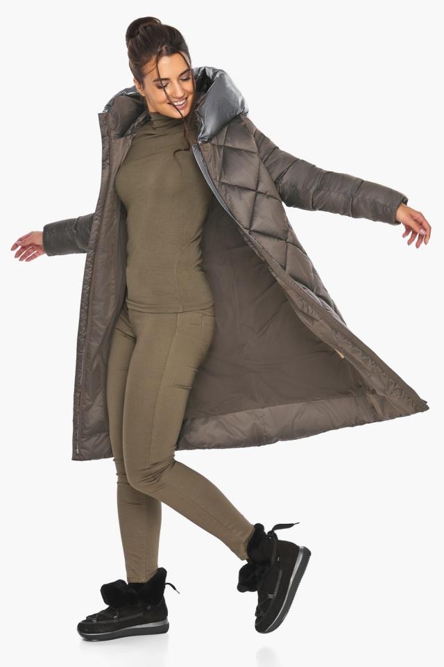 """Куртка капучиновая женская трендовая модель 46510 Braggart """"Angel's Fluff"""" фото 8"""