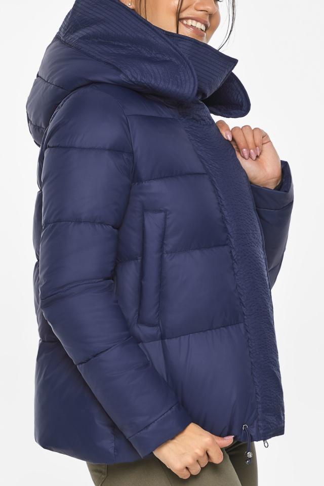 """Куртка синяя зимняя с манжетами женская модель 43560 Braggart """"Angel's Fluff"""" фото 6"""