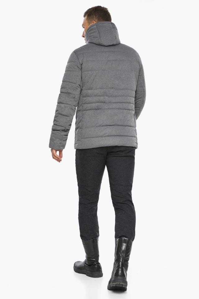 """Куртка – воздуховик пепельный зимний на молнии мужской модель 15078 Braggart """"Angel's Fluff Man"""" фото 8"""