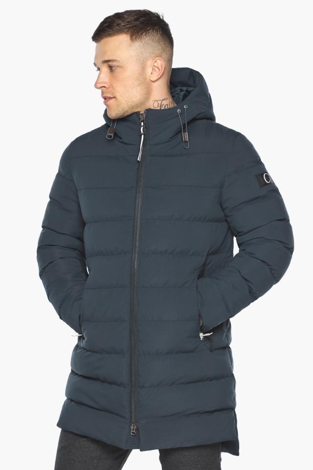 """Удобная графитово-синяя зимняя мужская куртка модель 49080 Braggart """"Aggressive"""" фото 3"""