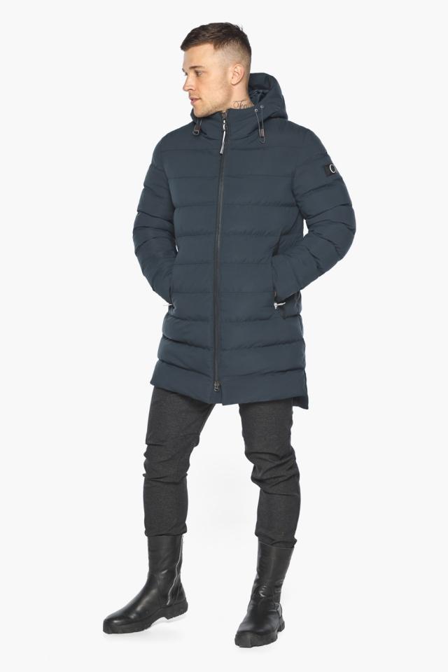 """Удобная графитово-синяя зимняя мужская куртка модель 49080 Braggart """"Aggressive"""" фото 8"""