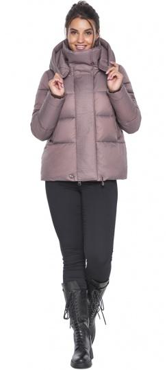 """Короткая пудровая куртка женская зимняя модель 43560 Braggart """"Angel's Fluff"""" фото 1"""