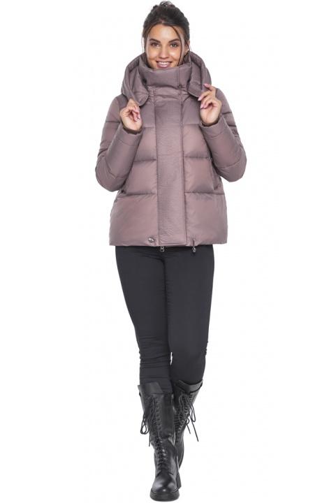 """Коротка пудрова куртка жіноча зимова модель 43560 Braggart """"Angel's Fluff"""" фото 1"""